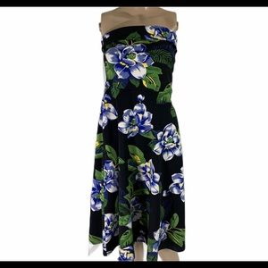 Banana republic  ponte floral dress POCKETS SM